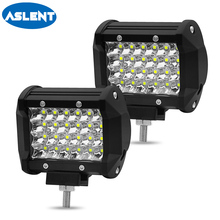 Aslent 4 inch 72W 7200lm 4 rows Led Work Light Car Driving Lamp LED Bar Light for Motorcycle Tractor Off Road 4WD 4x4 Truck SUV