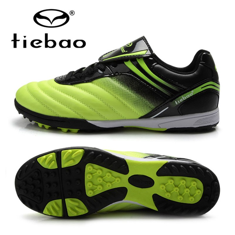 TIEBAO Professional Kids Children Sneakers Outdoor Sport Football Shoes TF Turf Rubber Soles Boys Girls Football Boots EU 30-38 tiebao professional boys fg