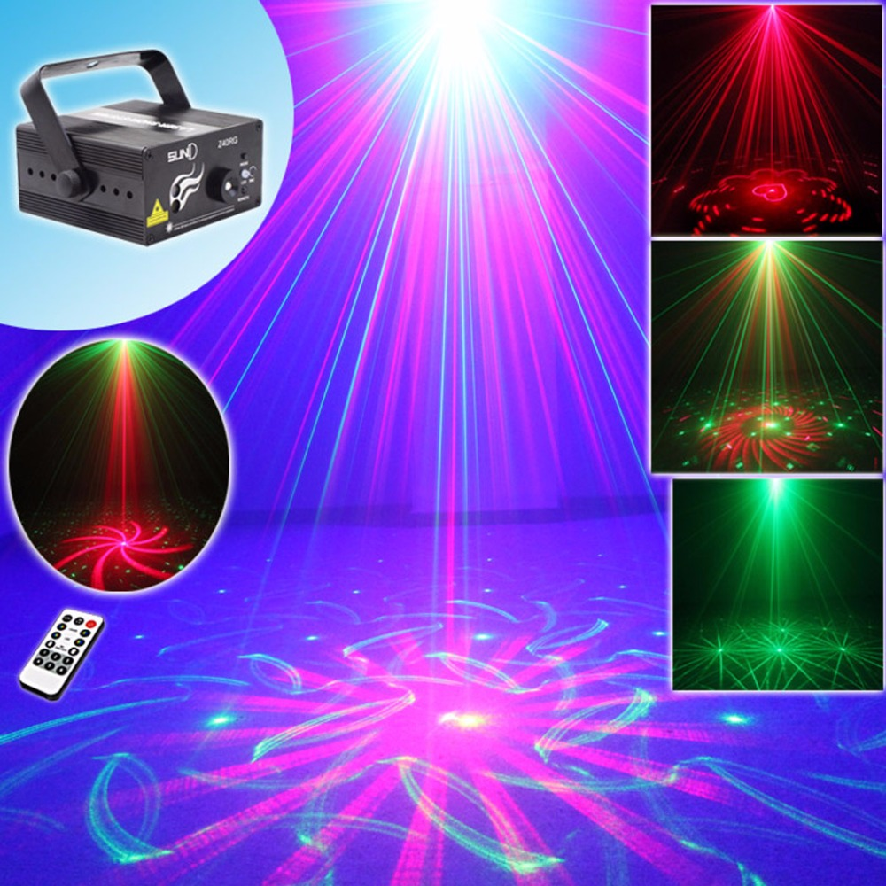 Suny 3 lens 40 patterns xmas red green laser light blue for Home lighting effects
