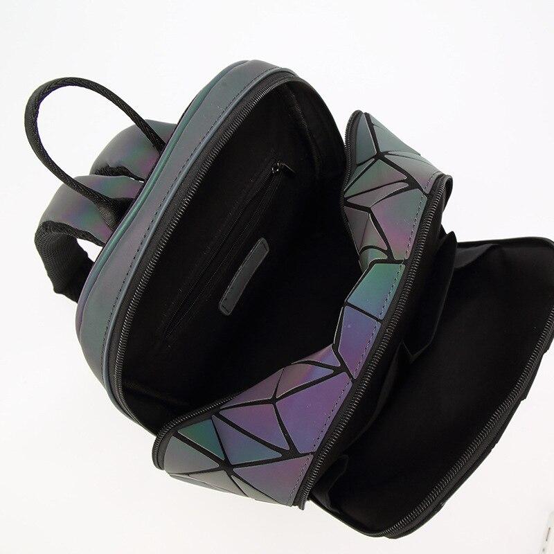 Diomo New Luminous Irregular Triangle Sequin Backpack For Women Fashionable Rucksack Female Backbag Korean #5