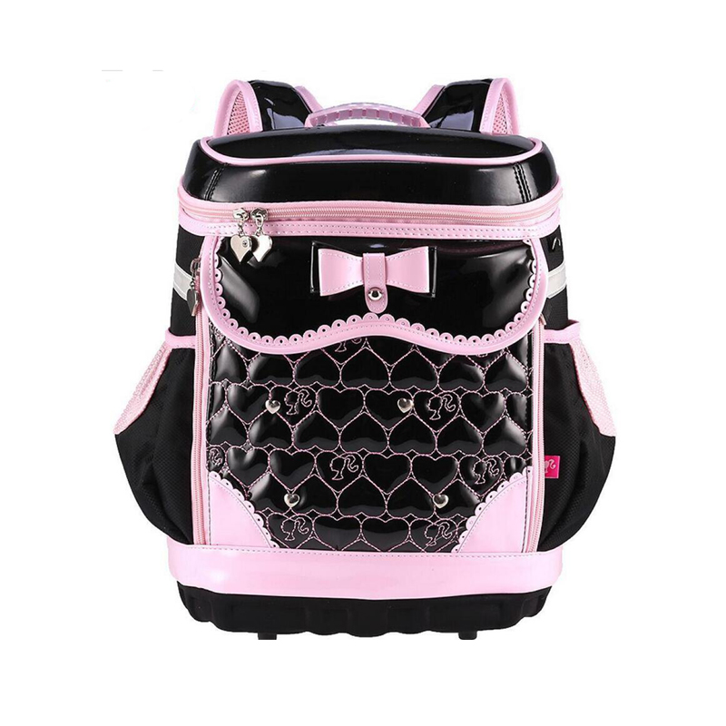 New Arrive 2019 Children Schoolbag Girls Primary School Waterproof Backpack Burden High Quality PU Pink Black Bow school BagNew Arrive 2019 Children Schoolbag Girls Primary School Waterproof Backpack Burden High Quality PU Pink Black Bow school Bag