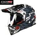 Горячая продажа LS2 MX436 двойной линзы мотокросс Шлем мотоциклетных шлемов ATV Dirtbike Бездорожью cross racing шлемы ECE approved