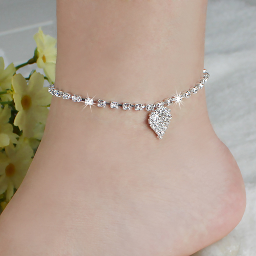 2016 Top Quality Foot Jewelry Multi pattern Love Heart Wedding Sandal Beach Star Crystal Anklet Chain