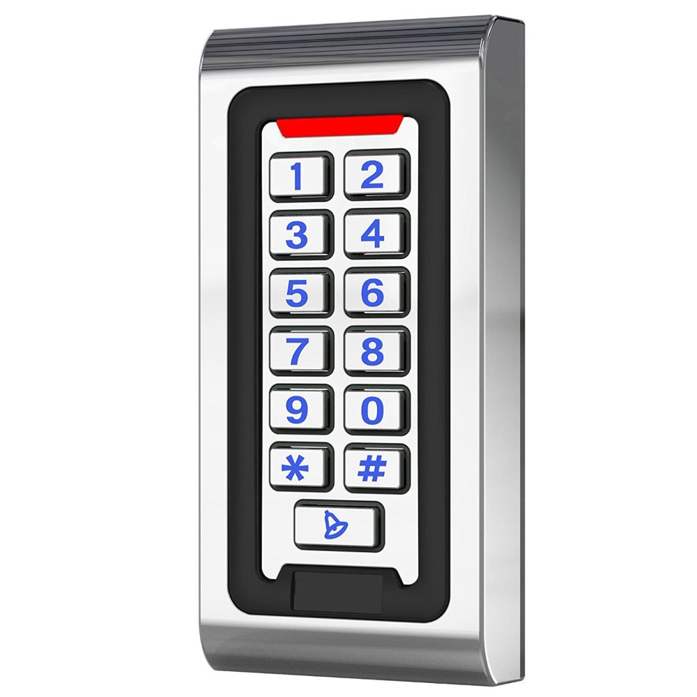 Waterproof Zinc Alloy Metal Case RFID Reader 125khz Access Control Keypad Work Stand-alone For Gate Opener Door Security System