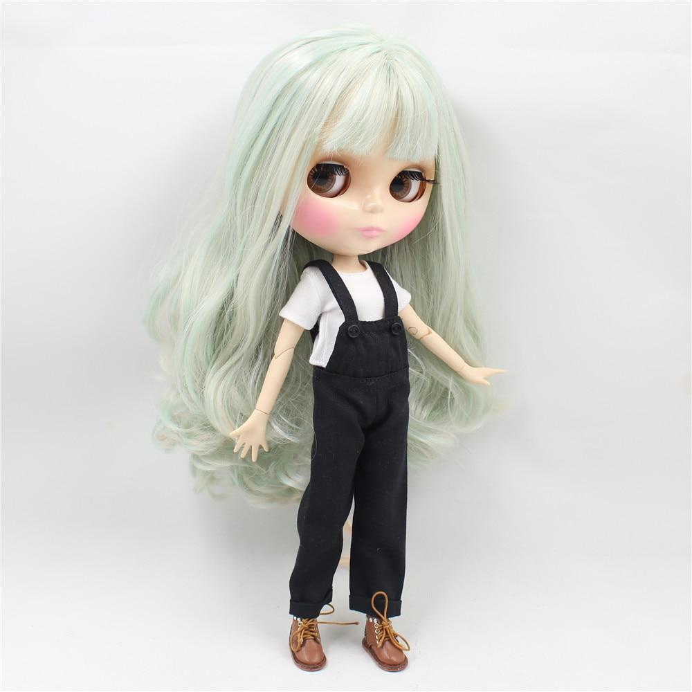 Neo Blythe Doll Black Rompers White Shirt 4