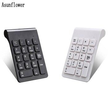 Portátil 2,4G teclado Digital inalámbrico USB Número Pad 18 teclas Mini Numpad para Laptop PC cuaderno de contabilidad de escritorio