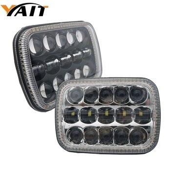 1Pair 5X7 7X6 inch Rectangular Sealed Beam LED Headlight With Amber Turn Signal LED for H6014 H6052 H6054 H6052 LED Headlight 7