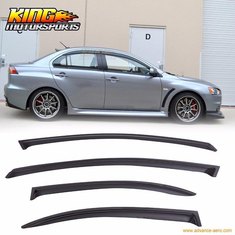 4Pcs//Set Window Visor Rain Deflector Smoke Tint for Nissan Altima 02 03 04 05 06