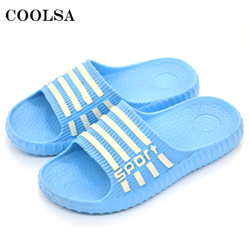 Coolsa Summer Hot Stripe Flip Flops EVA Women Sandals Soft Flat Non-Slip Slides Female Home Bathroom slippers Casual Beach Shoes 50%off men shoes summer eva massage foam beach flat sandals non slip bathroom household room indoor home house shoes