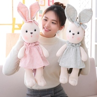 Cute Rabbit kids backpack toy plush animal backpack for children The kids shoulder bag