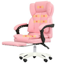Computer Chair Smooth Curve Massage Chair Home Office Boss Chair Thicker Rotating Seat High Quality Leather Office Chair
