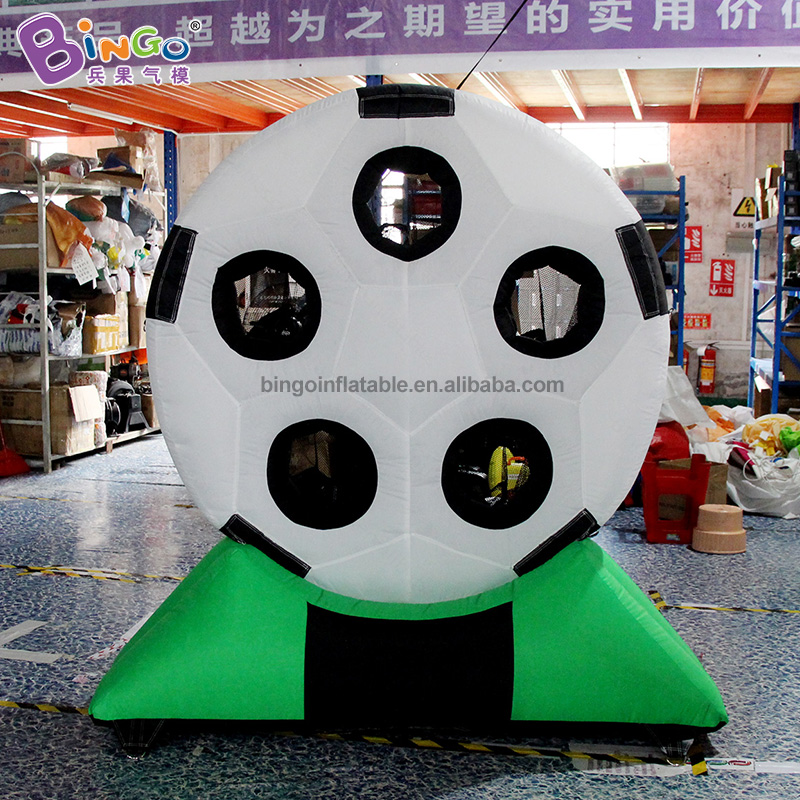 Customized 2m Height Nylon Oxford Inflatable Soccer Game / Football Inflatable Board Toys