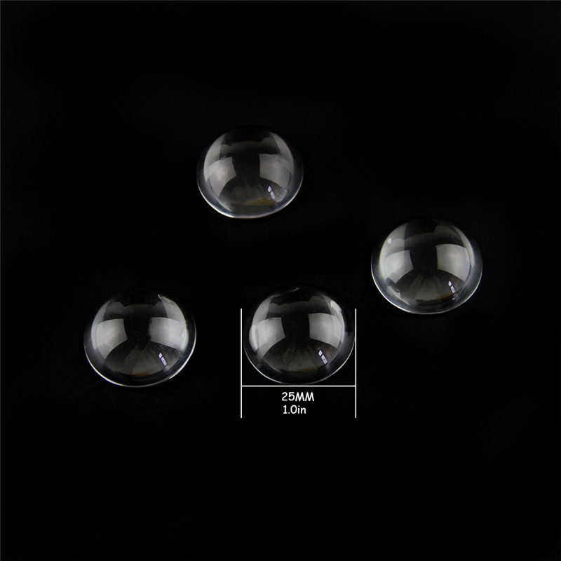 20pcs 25mm Clear Crystal Half Balls Glass Transparent Hemisphere Magnifier Glass Paperweight For Home Decoration