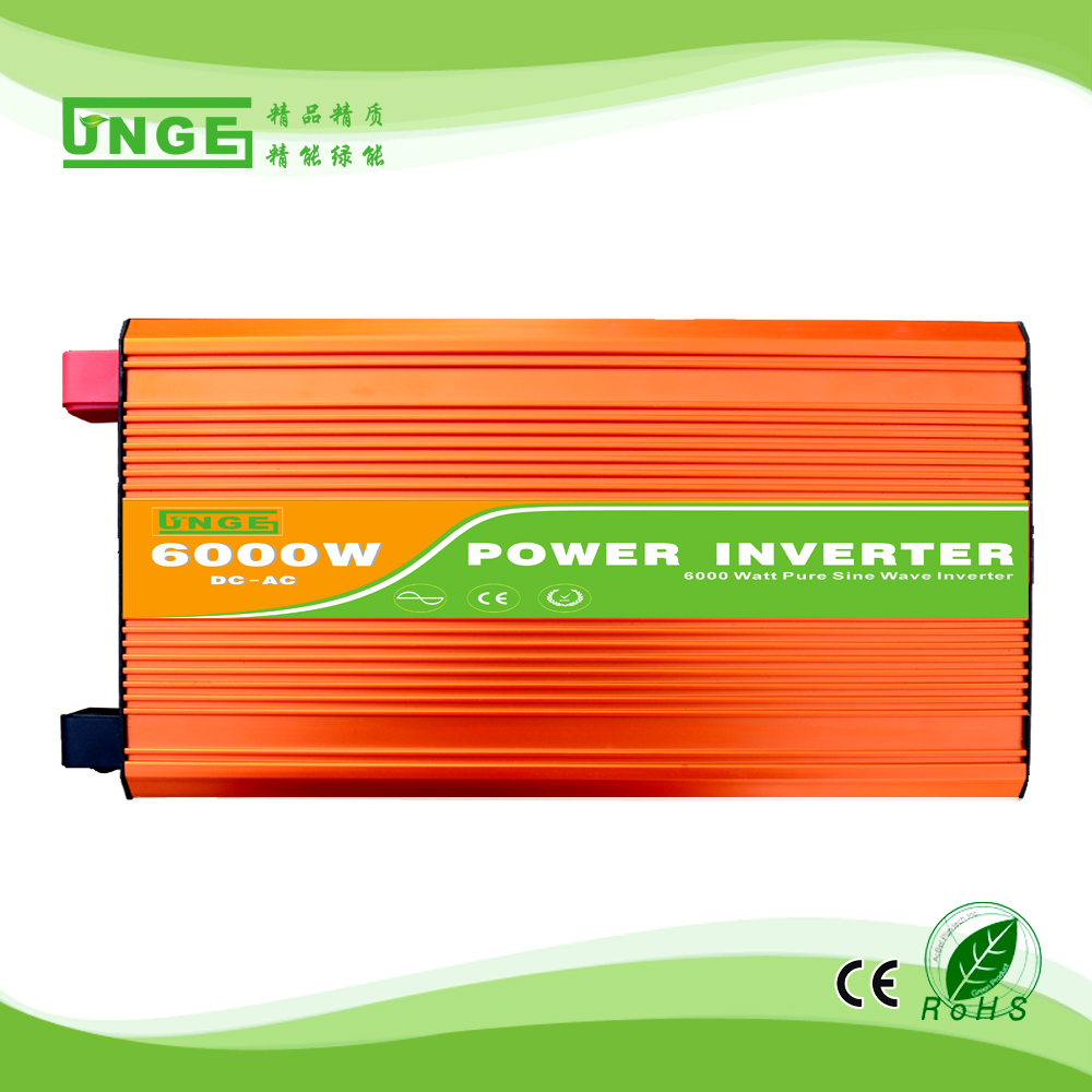 6KW/6000W 24/48/96V to 100/110/120/220/230/240VAC 50/60Hz residential home high frequency use pure sine wave off grid inverter 50 60hz 48v dc sine wave inverters 6000w