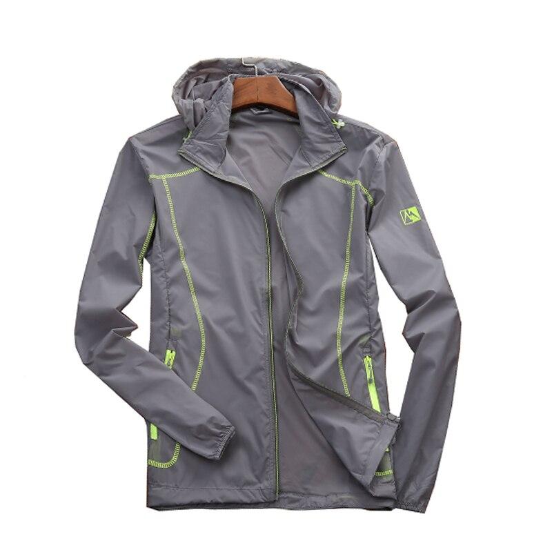 Campo base de verano con capucha sol-protective jacket hombres al aire libre de