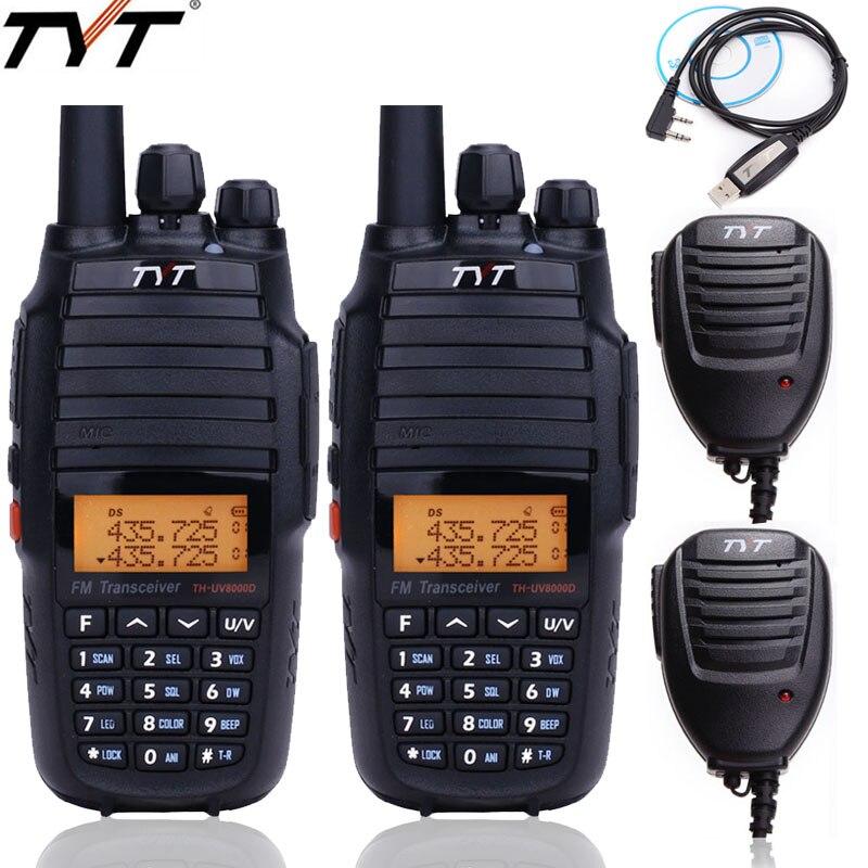 2Pcs TYT TH UV8000D Walkie Talkie Cross Band Repeater Dual Band VHF UHF 10Watts Radio Communicator