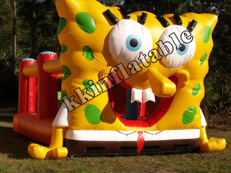 sponge cartoon bounce house party rental jumper inflatables ...