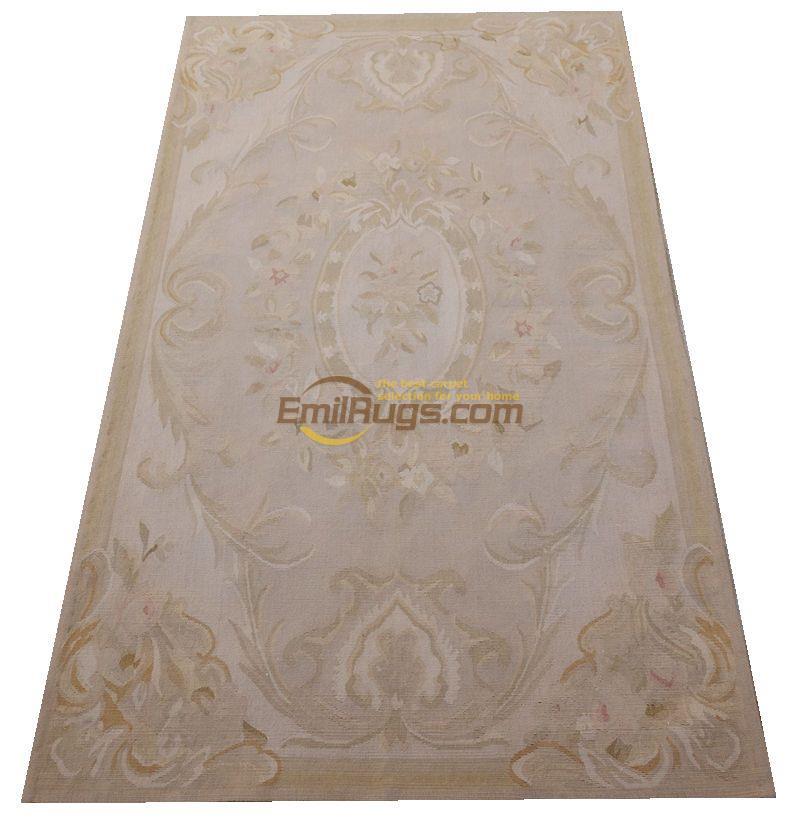 Tapis de laine français aubusson tapis Beige grand tapis rouge ...