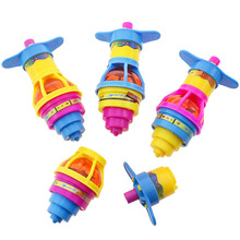 цена на Colorful Flash Spinning Top Plastic Luminous Ejection handle Gyroscope flashing Pressure Gyro Children's Classic Toys Gifts