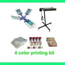 e0c62b69 FAST FREE shipping 4 color silk screen printing kit flash dryer plastisol  ink t-shirt