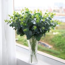 1Pcs Money Leaf Artificial Plant  Plastic Jungle Party Leaves Greenery Fake