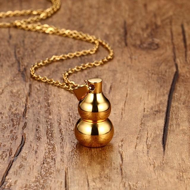 Gaara Gourd Pendant Open Bottle Necklace