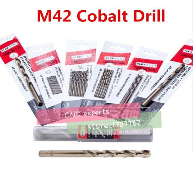 1PCS 7.6mm-20mm HSS-CO M42 Drill Bits Cobalt Twist Drill Bit (7.8/8/8.5/9/9.5/10/10.5/11/11.5/12/12.5/13/14/15/16/17/18/19/20mm)