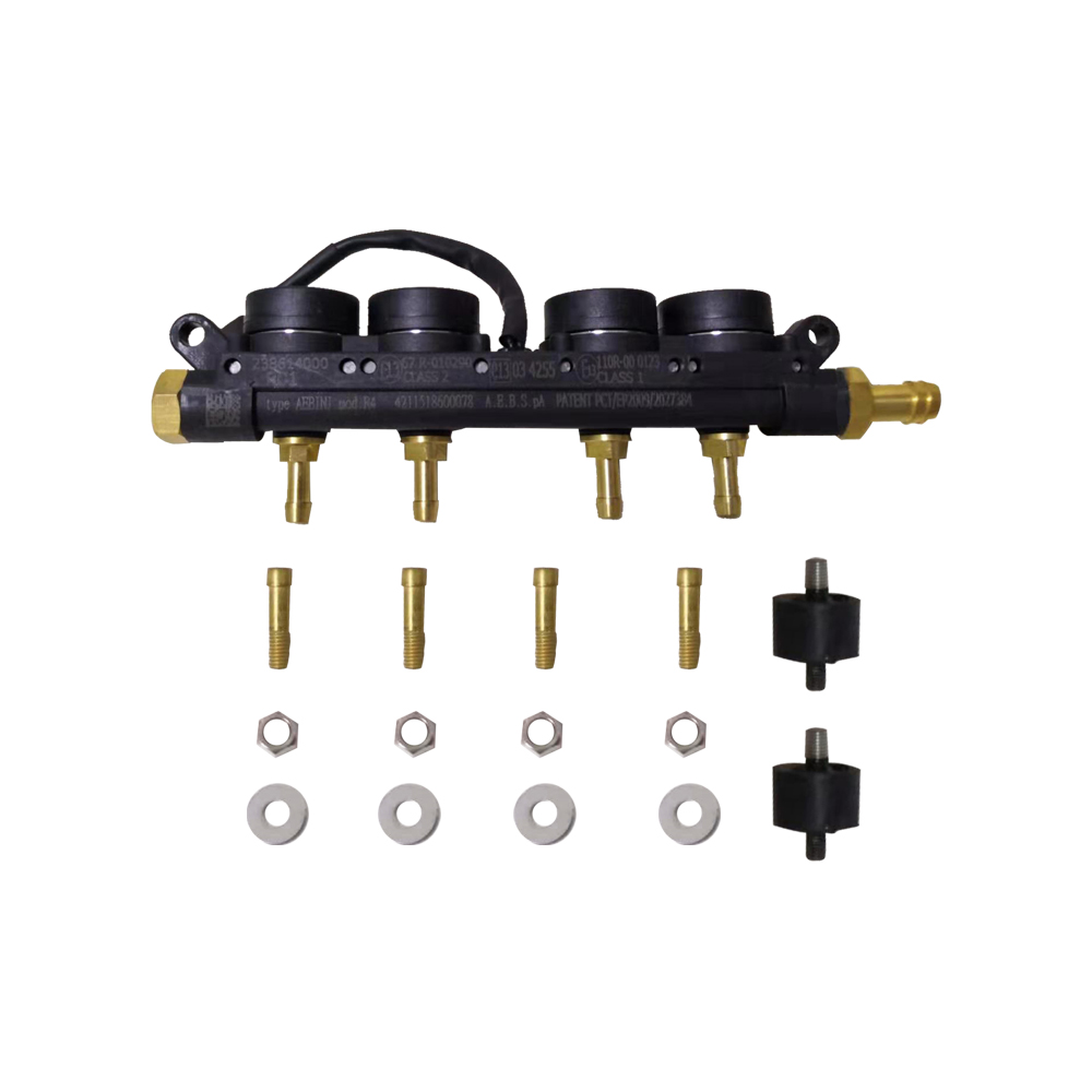 2 Ohms 4 Cylinder LPG Injector AEB Rail Super Silent High Speed Common Injector Rail Gas Injector And Accessories