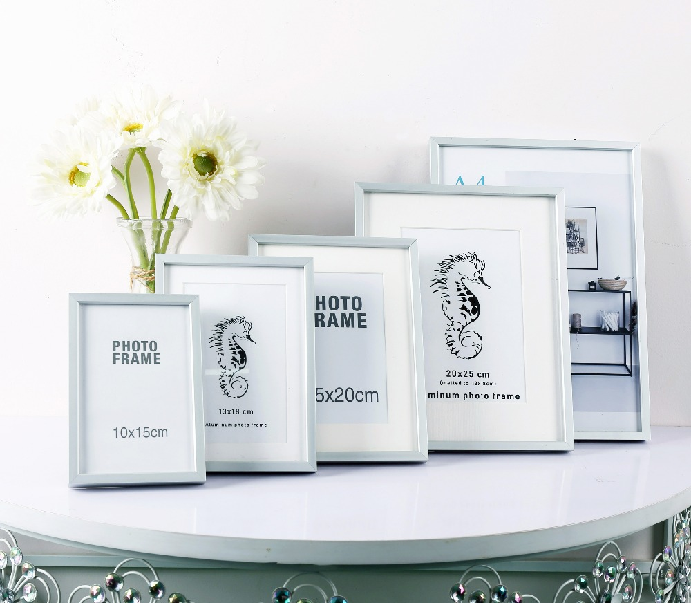 Pop top flat aluminum photo frame 10x15 13x18 15x20 20x30 30x40cm A4 A3 photo frame desktop and wall frame with plexi glass image