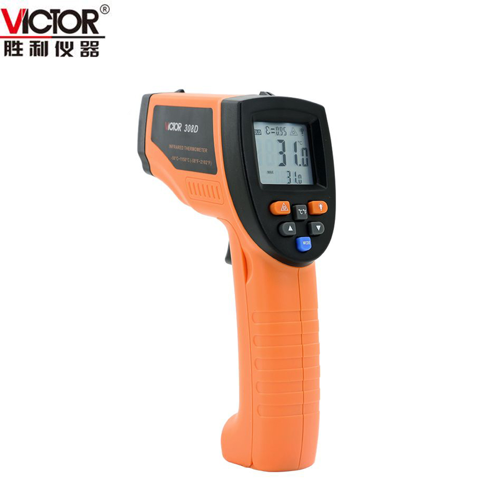 VICTOR VC308D Digital Non-contact Infrared IR Thermometer -3s