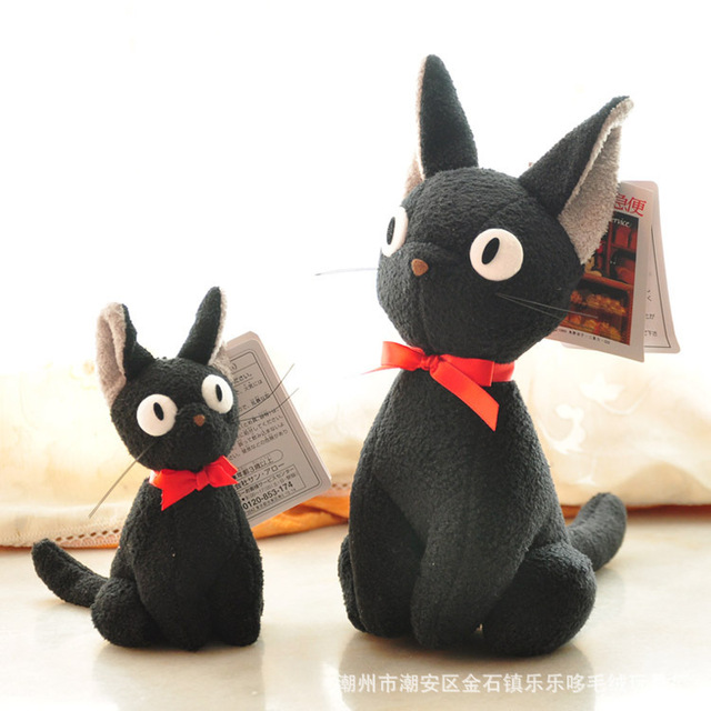 Hot Anime Kawaii Studio Ghibli Hayao Miyazaki Clássico Imagem Dos Desenhos Animados Do Gato Preto Serviço de Entrega de Kiki JiJi Cat Plush Stuffed Dolls