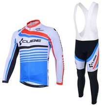 2016 New CUBE Sportswear Mountain Bike Ropa Ciclismo Breathable Bicycle Bike Wear Cycling Jersey Clothing Shirt+Cycling Bib Sets