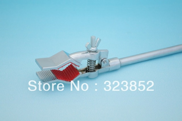 Lab  flask clamp clip test tube clamp accept Dia. 10-40mm    zinc alloy plated