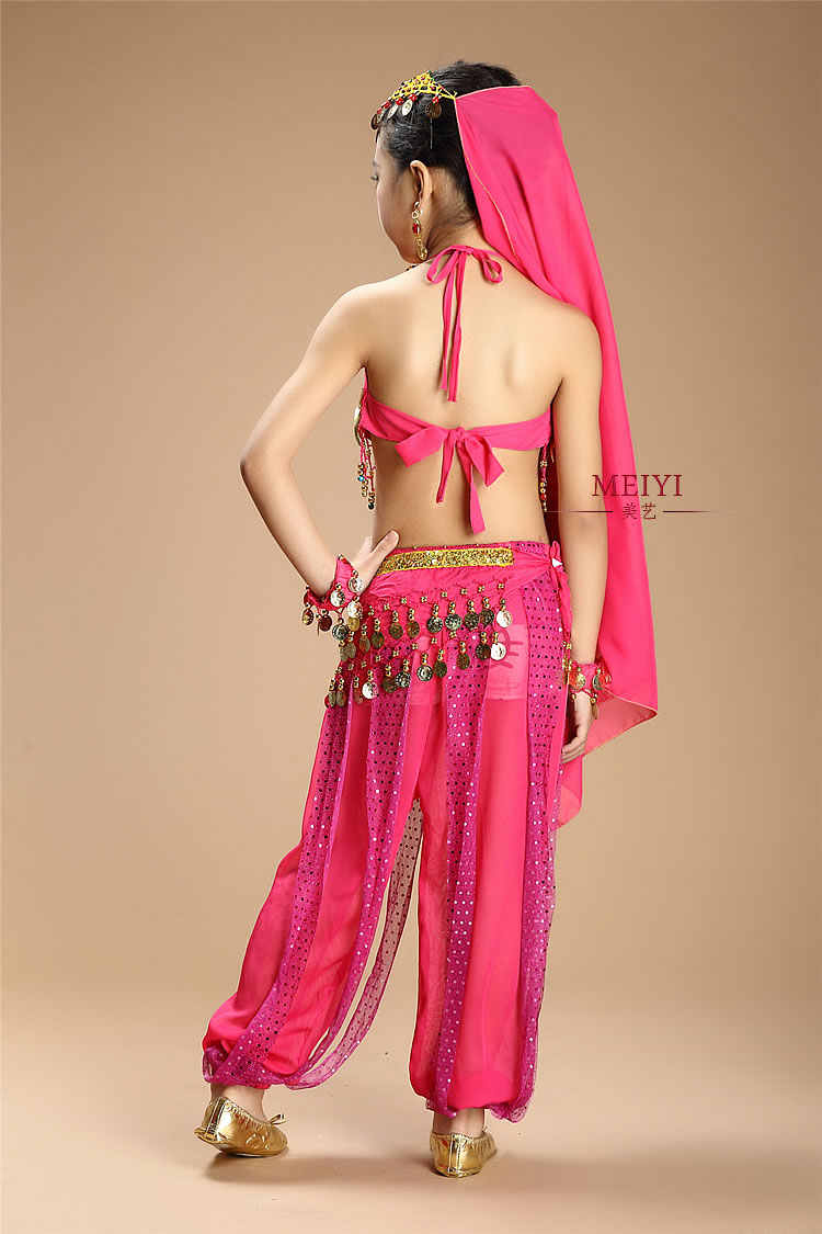 Bellydance oriental เครื่องแต่งกายเด็ก belly dance เครื่องแต่งกาย top กางเกงชุด grils อินเดีย sari เสื้อผ้าเสื้อผ้า bollywood สำหรับเด็ก