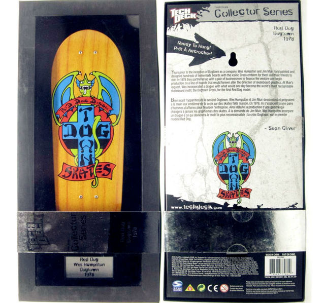 "NUEVA diapasón skateboard Decks Tech Collector Series 10 pulgadas tamaño de pantalla ""red dog dogtown 1978"" uso para hangging"