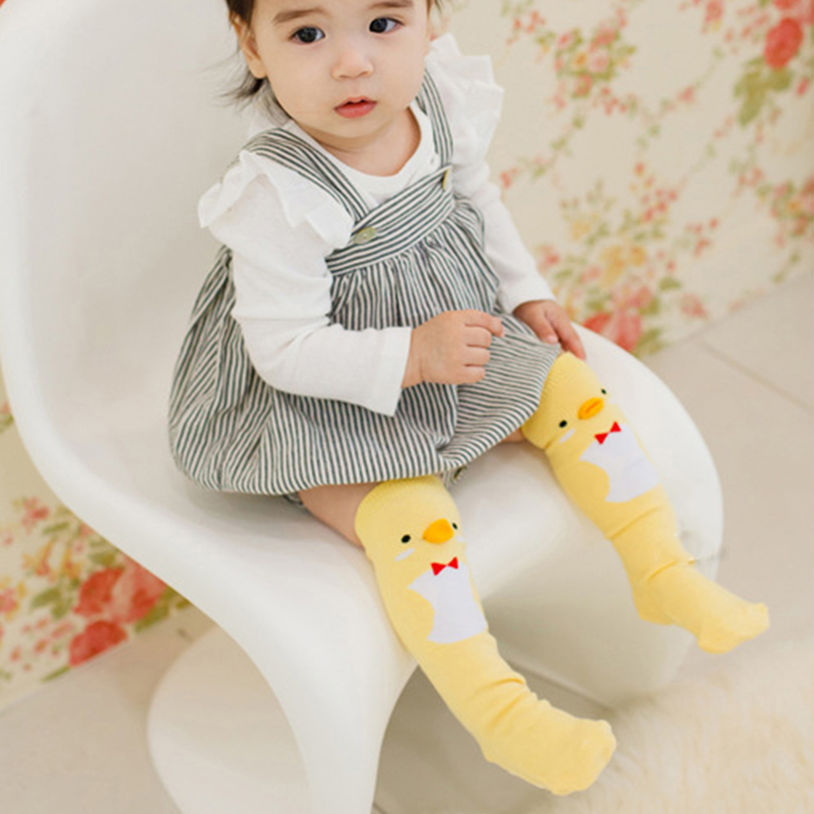 Hot Sale Cartoon Cute Soft Cotton Girls Boys Baby Sock Duck Penguin Design Children Infant Long Socks