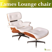 U-BEST Brand New designer Emes Lounge Chair & Ottoman,top grain premium real leather with  rosewood or walnut wood,leisure chair