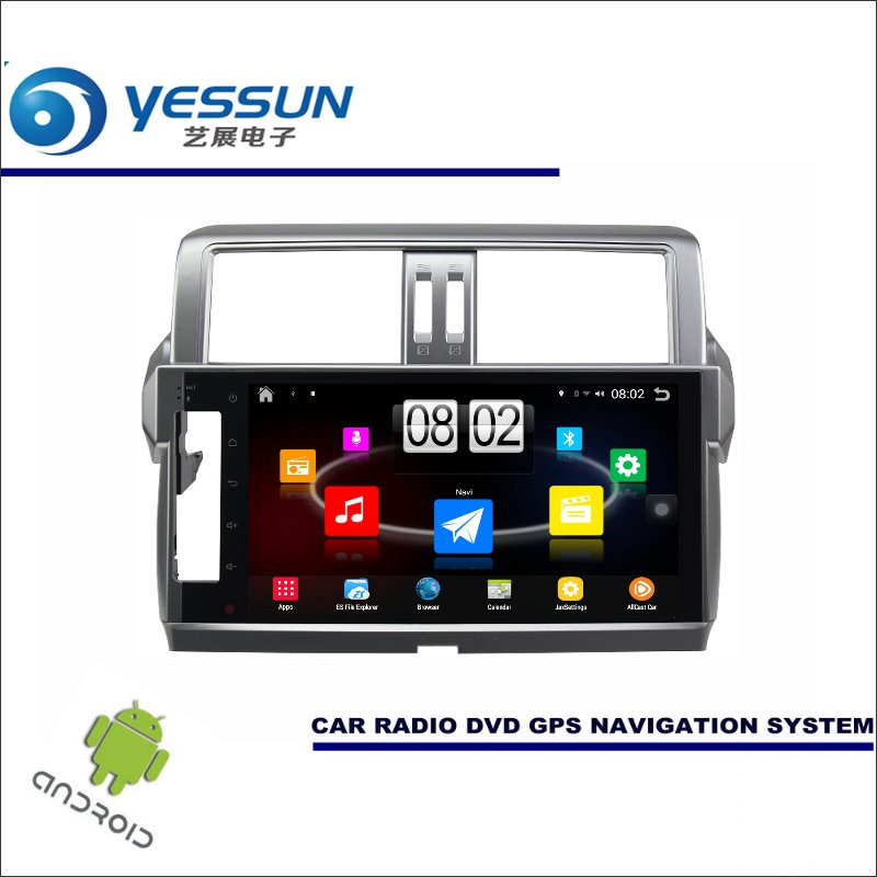 YESSUN Car Android Player Multimedia For Toyota Prado / For Lexus GX 460 Radio Stereo GPS Map Navi ( no CD DVD ) 10.1 HD Screen yessun car android player multimedia for mazda cx 5 cx 5 2012 2016 radio stereo gps map nav navi no cd dvd 10 1 hd screen