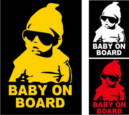 Baby on board carlos hangover die cut vinyl decal sticker car 6 funny sign sticker 20 x 12cm in car stickers from automobiles motorcycles on
