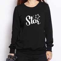 2016 New Fashion Autumn Women Long Sleeve Tracksuit Hoodies Funny Cute Star Print Casual Pullover Sweatshirt