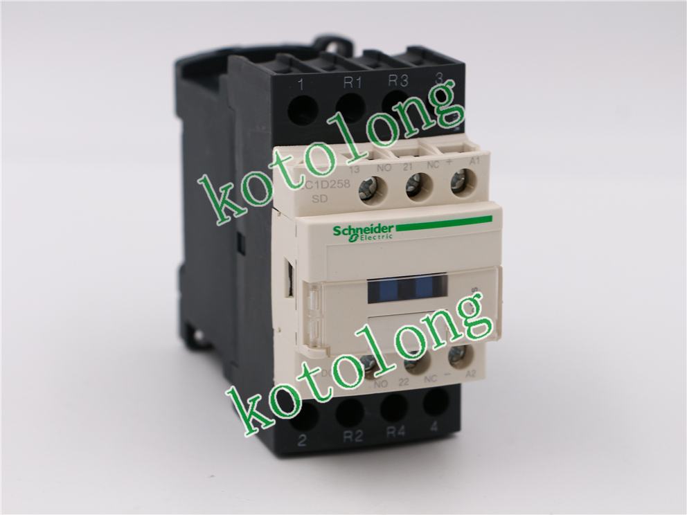 DC Contactor LC1D258 LC1-D258  LC1D258SD LC1-D258SD 72VDC lc1d series contactor lc1d09 lc1d09kd 100v lc1d09ld 200v lc1d09md 220v lc1d09nd 60v lc1d09pd 155v lc1d09qd 174v lc1d09zd 20v dc