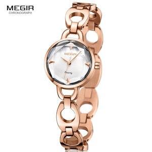 Image 5 - Relogio feminino Women Watches MEGIR Luxury Brand Girl Quartz Watch Casual Leather Ladies Dress Watches Women Clock Montre Femme