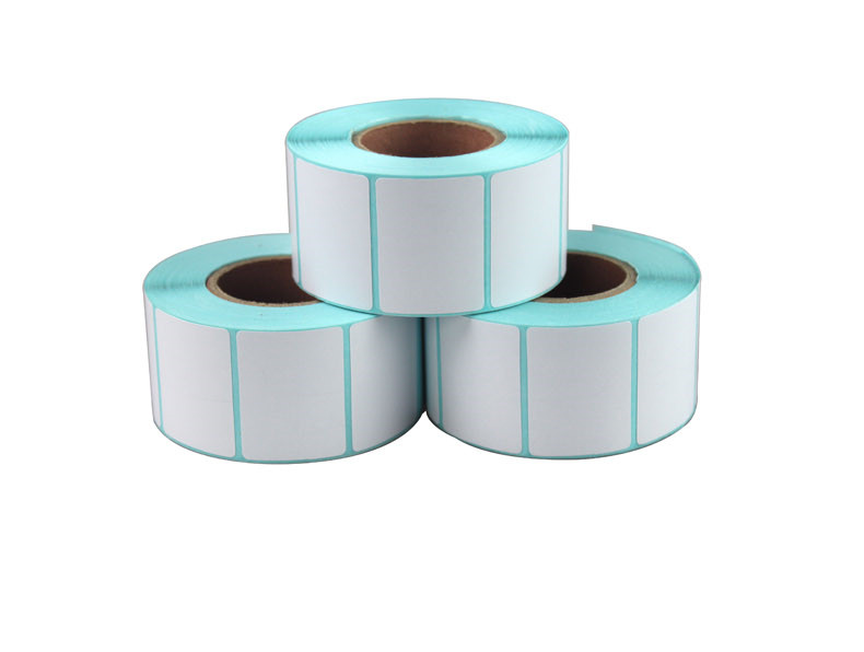 1roll Thermal sticker paper 30x20mm 800sheets waterproof barcode printing paper paper bar code label printing paper 60 50mm 2000 sheets per roll single row thermal transfer adhesive paper can customize use sticker printer empty shipping label