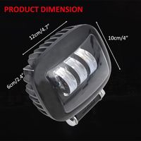 New 6D Lens 5 Inch Round Square Led Work Light 12V For Car SUV Trucks 4x4 Offroad Motorcycle Auto Working Driving Lights qiang