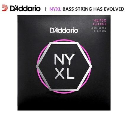 D'addario Daddario NYXL Nickel Wound Bass Guitar Strings Long Scale NYXL4095 NYXL45100 NYXL45105 NYXL50105 NYXL45130(5-strings) ernie ball extra slinky nickel wound струны для электрической гитары 8 38