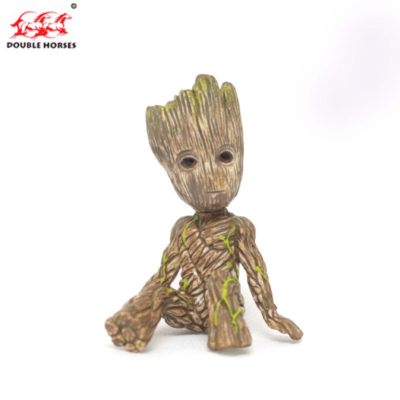 Tree Man Baby Action Figure Groot Doll toy pvc Guardians Galaxy Model Toy Statue Ornaments boy Birthday Gifts Ornament