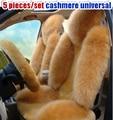 Tawers Mauve cojín de calefacción auto suministros amortiguador del coche de lana de invierno pulvinis cuero completo 5 unids/set cachemira universal