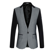 In the autumn of 2016 the new Men's jackets Fashion, cultivate one's morality splicing small suit plus-size