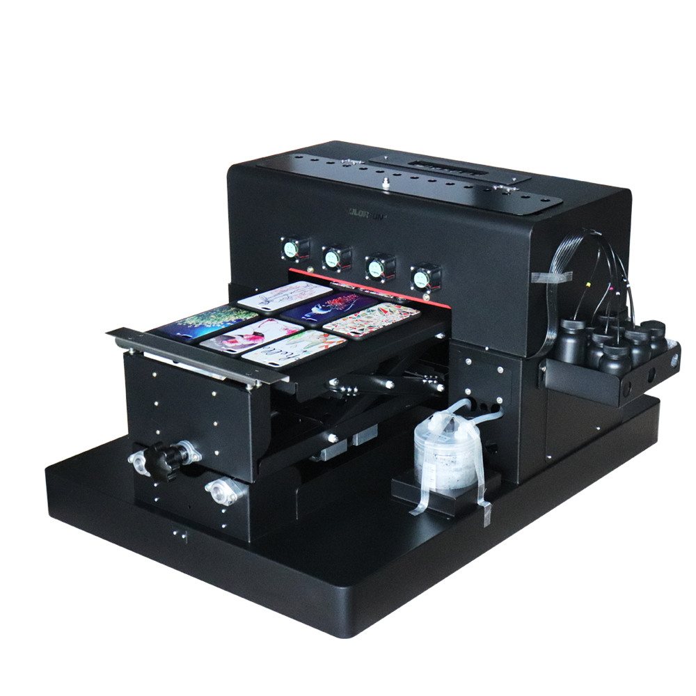 цена 8 Colors A3 UV Flatbed Printer Machine Modified from Original R2000 Without Printhead For Phone Case Wooden TPU PVC