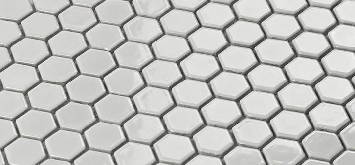 azulejo de mosaico de porcelana blanca brillante hexagonal de cermica etiqueta bathshower pared